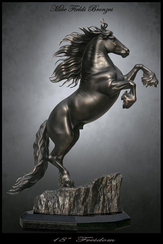 "Friesian Stallion Sculpture - ""Friedom"" .. by Mike Fields"