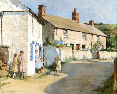 Stanhope Alexander Forbes - The Village Street, Newlyn about 1925