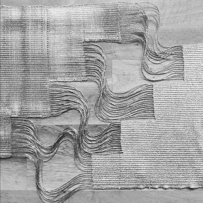 beautiful woven works by Justine Ashbee...