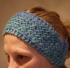 Padrão de tricô gratuito para Whistler Head Band - aquecedor de orelha f ...