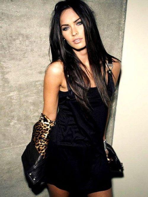 Megan Fox. I really dislike her but she looks gorgeous here!