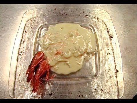 gamberi alla fonduta di gorgonzola