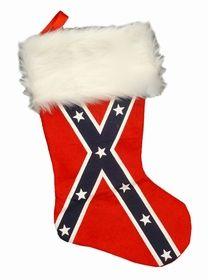Confederate Rebel Flag Christmas Stocking
