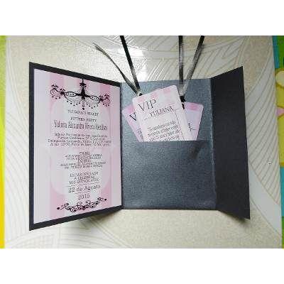 Invitaciones 15 Años, Xv Años, Quince Años, Personalizada - $ 32.00 en MercadoLibre