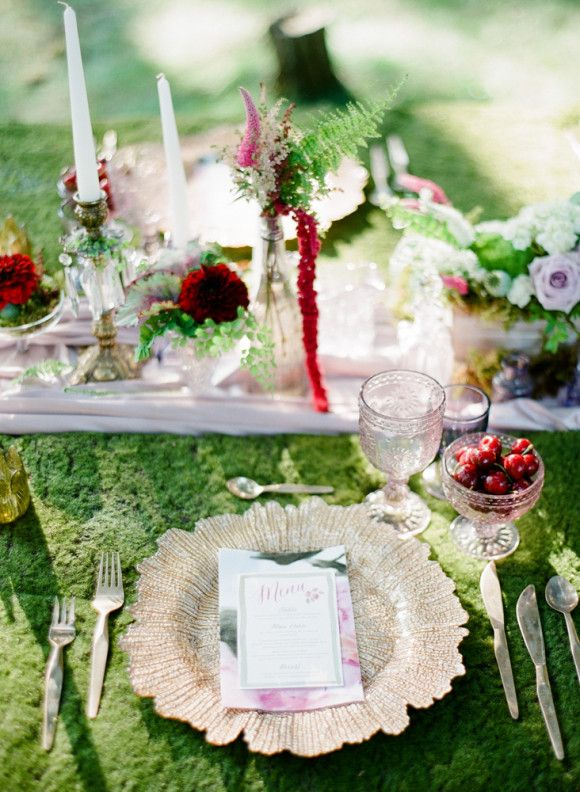 Enchanted Forest Wedding Ideas--for the moss mate covering