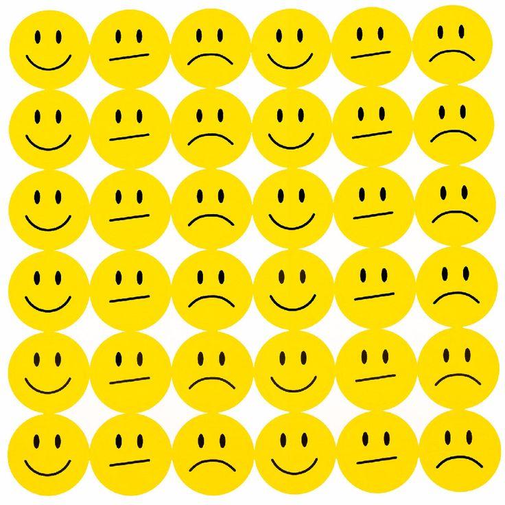 180 Smiley Sticker Set Aufkleber Lächeln Emoji Smily Face  - gelb in Spielspass / Basteln  • Sticker • Smiley Sticker
