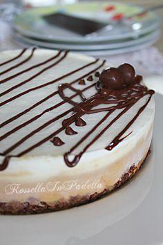 Torta fredda al caffè, base wafer con mascarpone e nutella