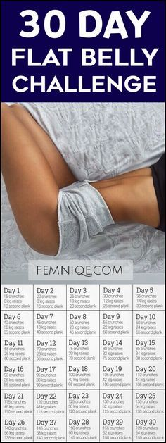 30 Day Flat Belly Challenge Workout - This 30 day flat stomach challenge will help lose belly fat and get the flat stomach you have always wanted!