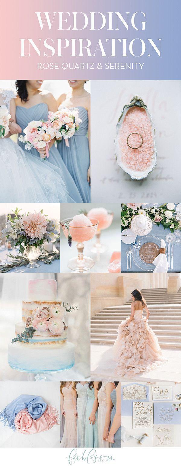Rose Quartz & Serenity Wedding Inspiration | Foxblossom Co.