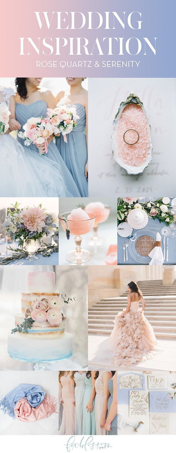 Rose Quartz & Serenity Wedding Inspiration | Foxblossom Co.
