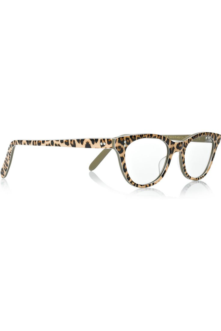 cutler and gross leopard print glasses