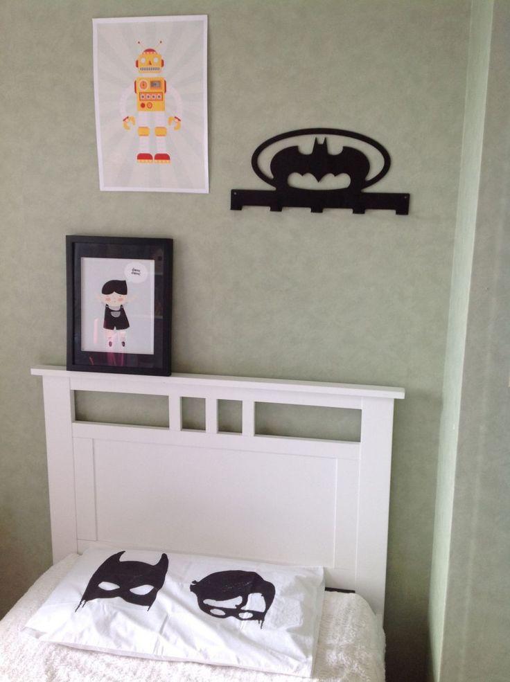 black anodised wall mounted coat hanger