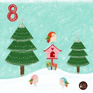 FlossieandFig: Three Little Birds - Advent Day 8