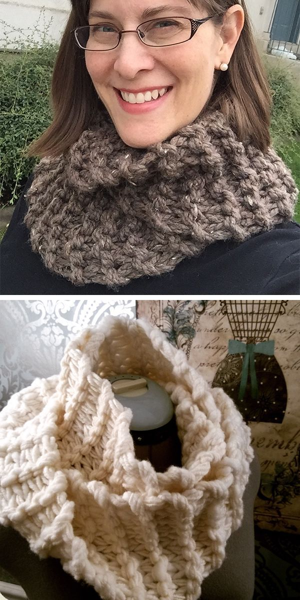 Free Knitting Pattern For Easy Sassenach Cowl This Statement