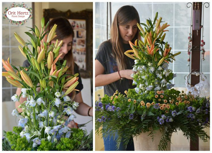 Orit Hertz - Floral Design School - Private lesson - reception design