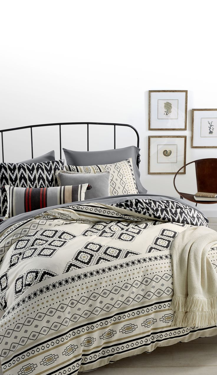 Decorative Pillows And Throws Will Turn Your Bedroom Into A Weekend Lounge Perfect For Spontaneous Napping Shop This Look From Whim By Martha Stewart