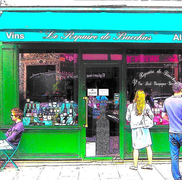 Le Repaire de Bacchus wine bar in Paris  #paris #parisstreetscene #parisphotography #pariswinebar #parisphotos #parisprints from $32