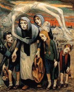 """""""Les inaptes au travail"""" de David OLERE (1950) - PEINTURE"""