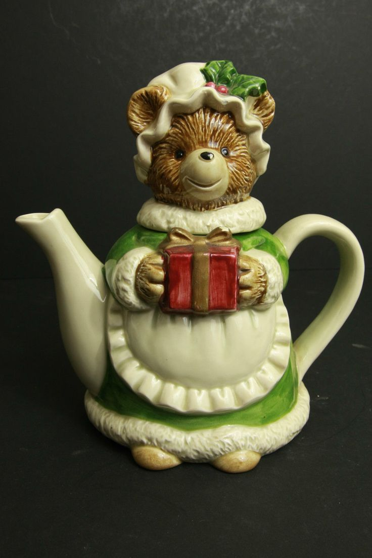 Lovely Cute Novelty Mama Bear with Gift Teapot, By Otagiri