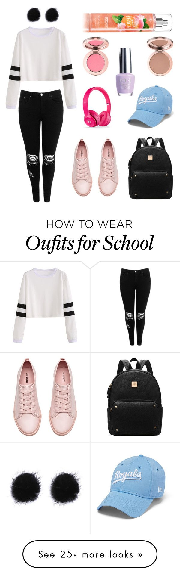 """""""School outfit"""" by hannahgarabito on Polyvore featuring Boohoo, H&M and OPI"""
