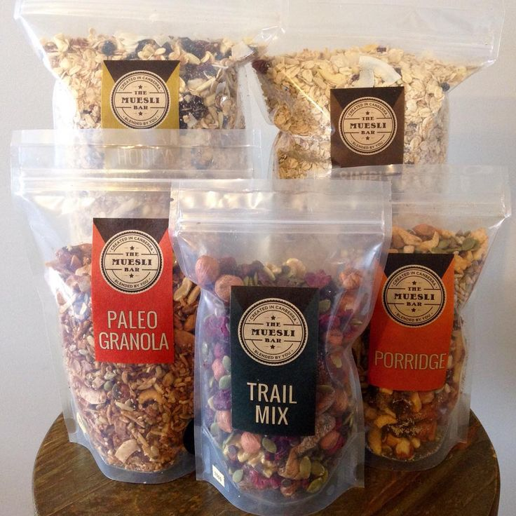 The Muesli Bar #packaging #clearpackaging #granola #muesli curated by Copious Bags