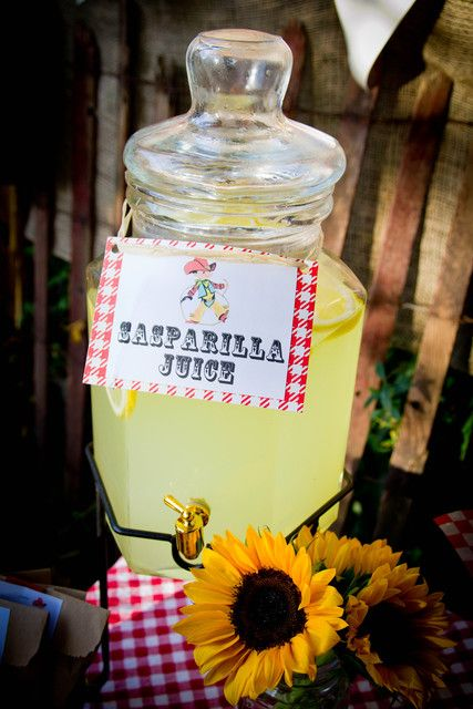 Lemonade at a Wild West Birthday Party!  See more party ideas at CatchMyParty.com!
