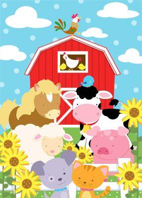 baby nursery farm mural