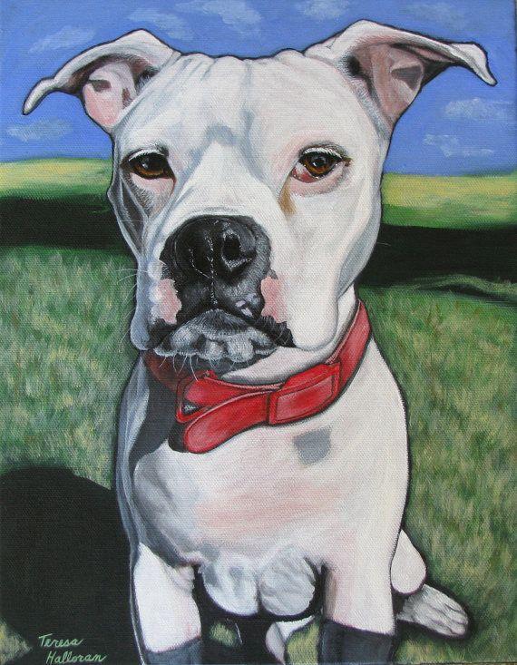 etsy dog portraits: Custom Pet, Art Dogs, Etsy Dogs, Pet Portraits, Dogs Art, 130 00, American Bulldogs Men, Pet Paintings, Dogs Portraits