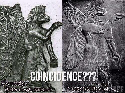 Can any of the scientists explain, how could this even be comprehendible? Thousands of years ago, thousands of miles away, same in Ecuador and Iraq?