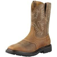 "Men's Ariat® 10"" Sierra Wide Square Steel Toe Cowboy Boots: Men's Ariat® 10"" Sierra Wide Square Steel… #Hunting #Shooting #Fishing #Camping"