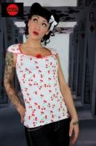 Shock Culture Summer Release  -   Shock Culture Pinup White Cherries Top