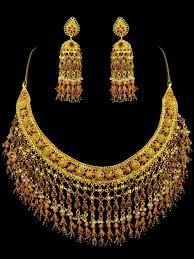 Arap Tasarımı Altın Takı Seti