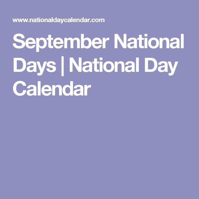 September National Days | National Day Calendar