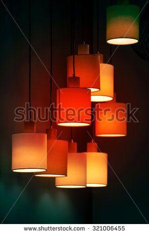 Modern style lighting decor  - stock photo