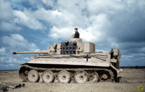 Pzkpfw VI '231' of an unknown unit in Northern Russia, Summer of 1943. This tank seems to have no aditional color applied to it besides the ...