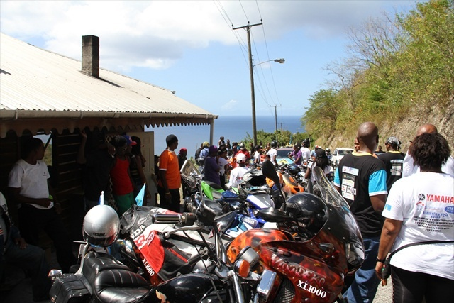 St Lucia's independence day ride 2013