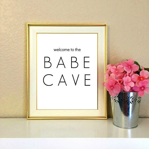 Welcome to the Babe Cave Dorm Decor Roommate College Gift