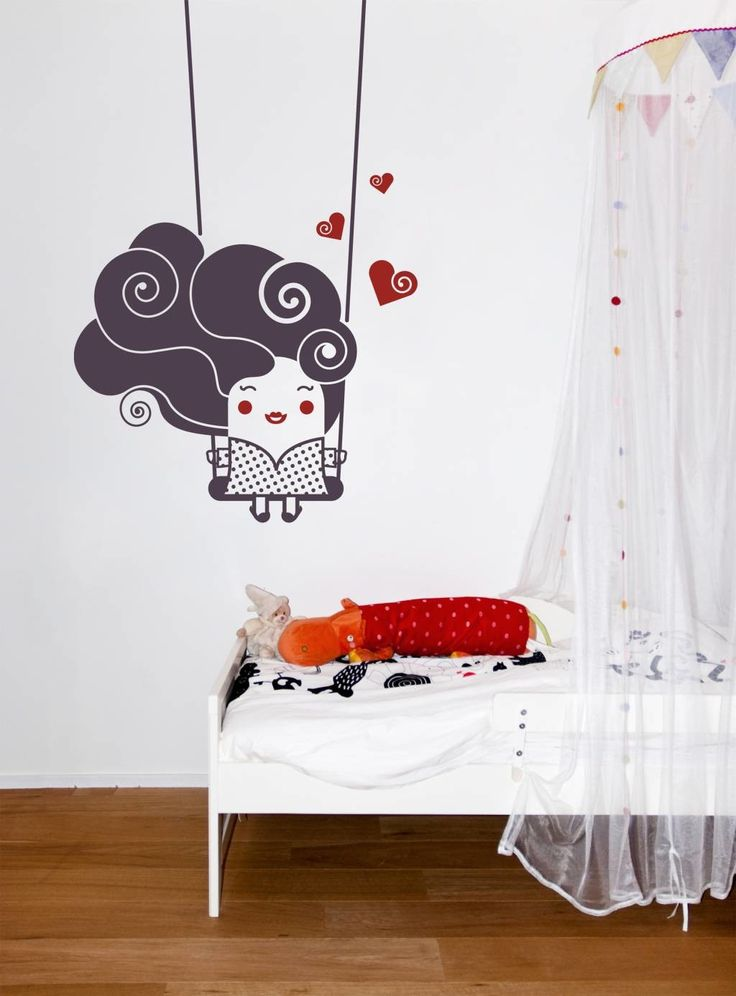 Beautiful Lovely Kids Wall Stickers For Baby Nursery Bedroom Wall  Decorating Designs Ideas Cozy And Beautiful Wall Stickers Design Ideas For  Home Interior ...