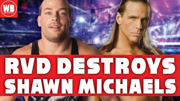 RVD Rob Van Dam Destroyed HBK Shawn Michaels Completely