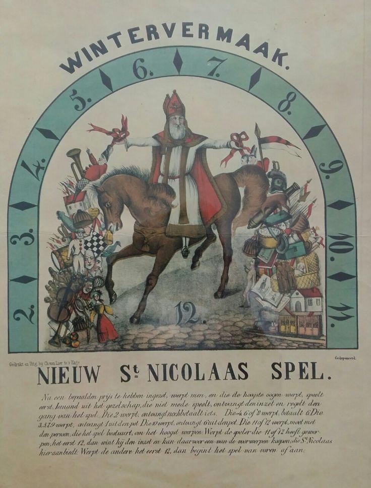 Sinterklaas spel uit circa 1890