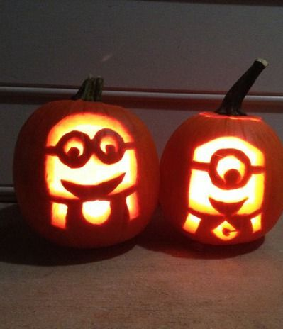 Minion pumpkin carvings (from Despicable Me)