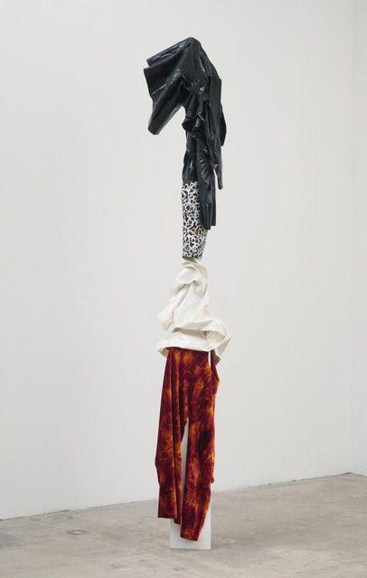 DONNA HUANCA HYBRID MOMENTS, 2014  Latex, pleather, velvet, silk, paint, metal, wood 105 × 18 × 14 in 266.7 × 45.7 × 35.6 cm