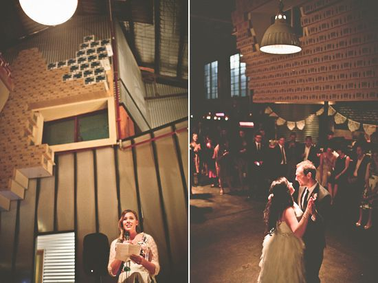 Sarah and Barry's Mountain Goat Brewery Wedding Ed Dixon Food Design Venues Wedding Venues Melbourne Wedding Venues Catering Christmas Parties