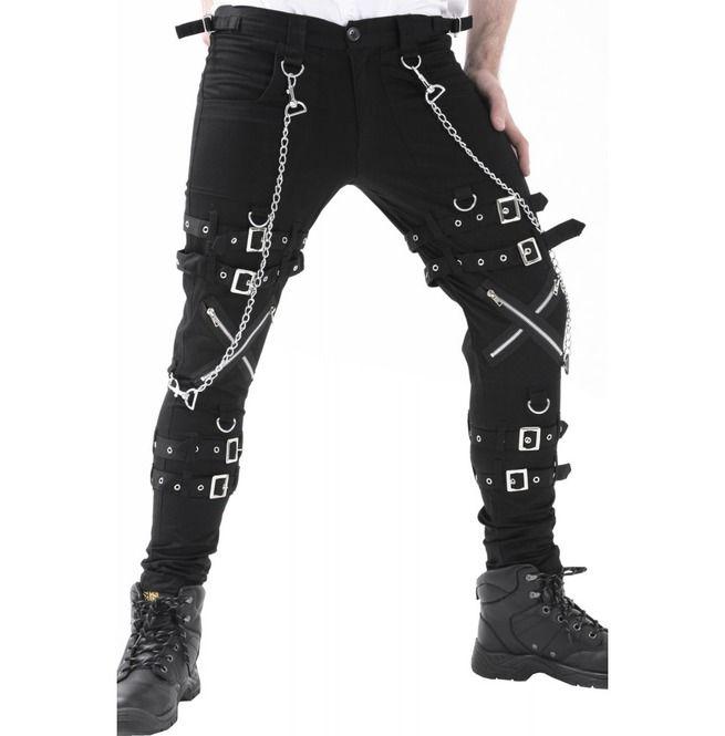 Punk bondage zipper pants