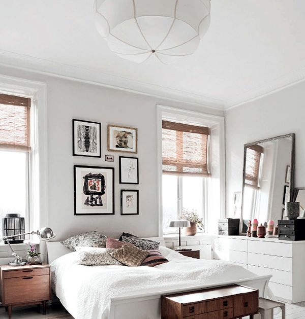 WHITE BED + PILLOWS Home with Danish fashion designer Susanne Rutzou in Copenhagen, Denmark - THE PEOPLE OF SAND