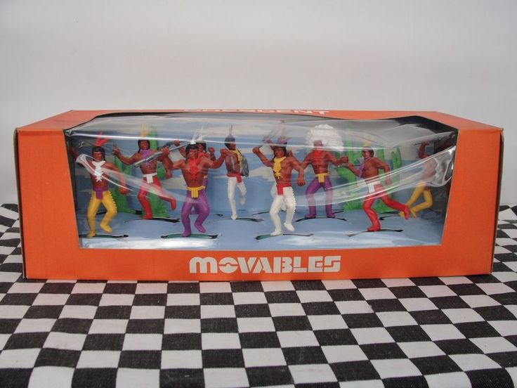 CRESCENT MOVABLES 1960'S INDIANS SET NO. 903  NEW OLD STOCK BOXED in Toys & Games, Toy Soldiers, Crescent | eBay!