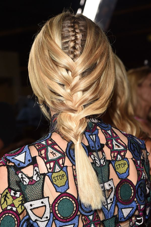 Braid game feeling snoozy? Here comes Diane Kruger, offering up a — wait for it — Inception braid. Yes, friends. She's got a braid-within-a-braid. Pause for reaction.    The plait is exactly what it sounds like. She styled one tight, inside-out French braid going down the center of her head, which is then tucked underneath a regular low twist. Kruger kept the end of her ponytail super straight and secured it with a clear elastic for a sleek look. Click on over to see it in all of its…