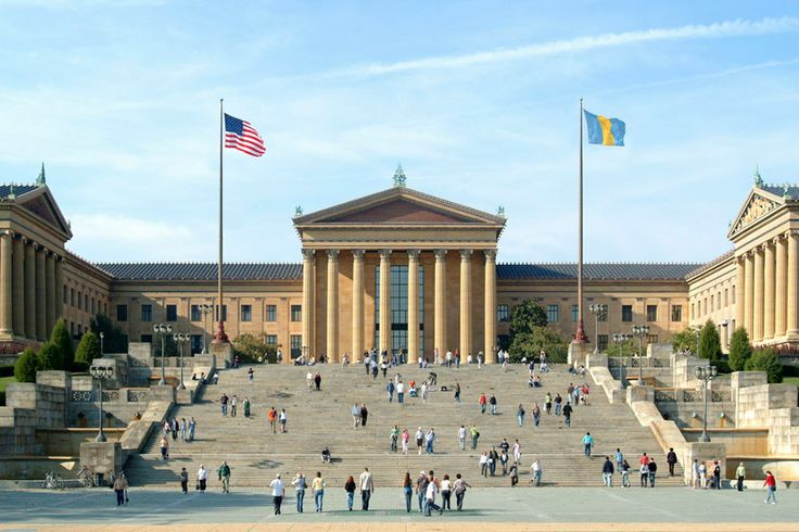 Philly is a mecca to anyone that loves art and movie lovers can never forget the iconic scene in Rocky where he runs up the stairs of the Philadelphia Museum of Art's steps in what ranked #13 as E! Description from sofritoforyoursoul.com. I searched for this on bing.com/images