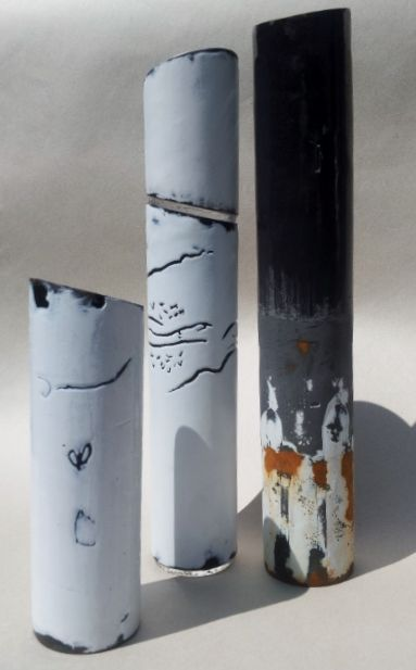 enamel, mark-making, steel, environment