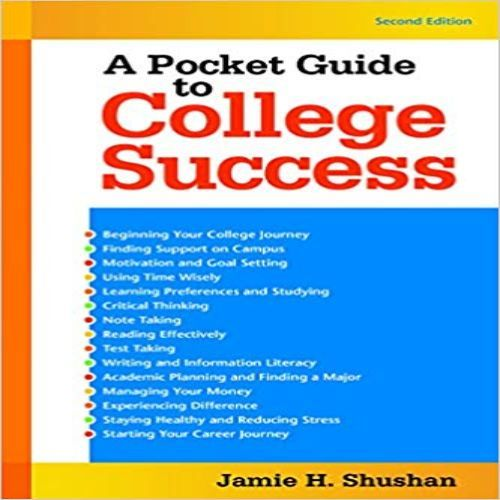 Solution Manual For Pocket Guide To College Success 2nd Edition By